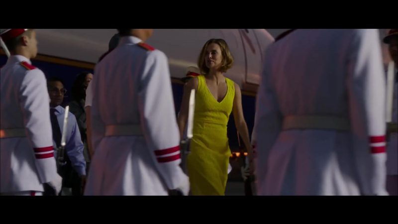 Yellow Dress Worn by Charlize Theron in Long Shot Movie - Female Celebrity Style