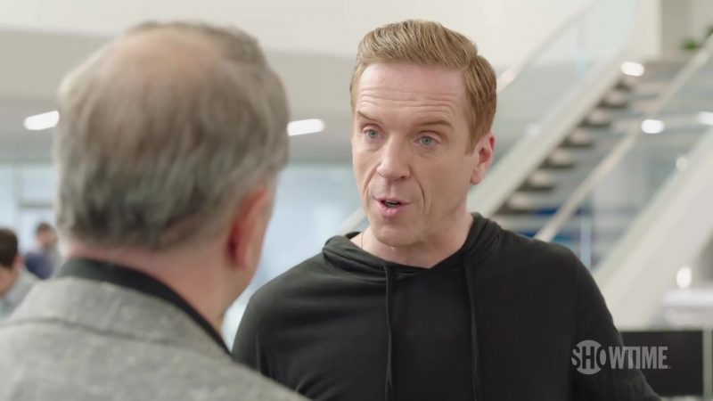 Black Hoodie Worn by Damian Lewis (Bobby Axelrod) in Billions Season 4 TV Show