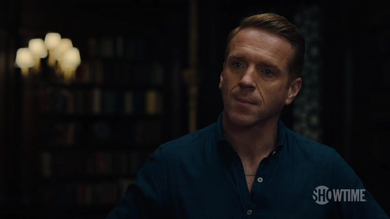 Blue Shirt Worn by Damian Lewis (Bobby Axelrod) in Billions Season 4 TV Show