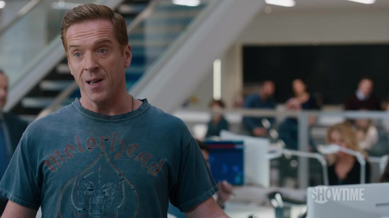Motorhead T-Shirt Worn by Damian Lewis (Bobby Axelrod) in Billions Season 4 TV Show - Male Celebrity Style