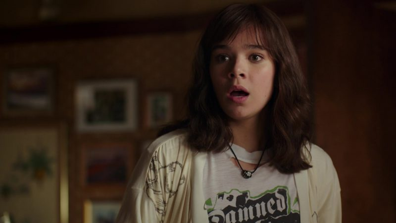 Female  Celebrity Style:  The Damned T-Shirt Worn by Hailee Steinfeld in Bumblebee Movie