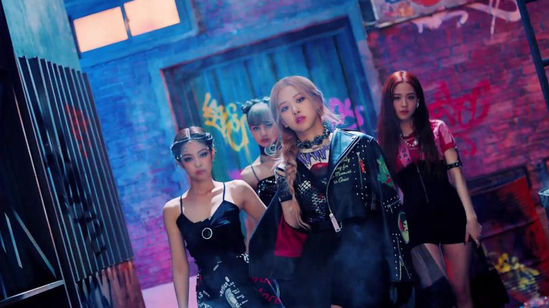 """Biker Jacket and  Choker Worn by Rosé (Roseanne Park) in """"Kill This Love"""" Music Video by Blackpink - Female Fashion"""