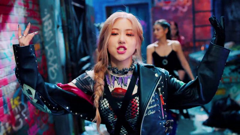 """Biker Jacket and  Choker Worn by Rosé (Roseanne Park) in """"Kill This Love"""" Music Video by Blackpink - Female Fashion Outfits and Products"""