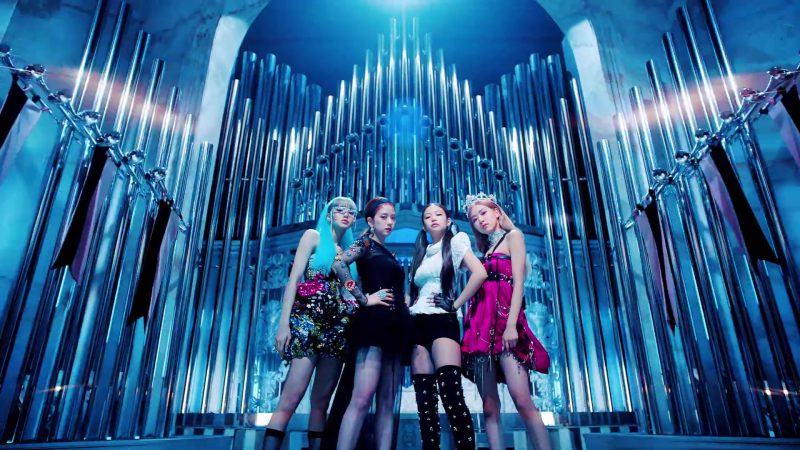 """Bustier Dress Worn by Lisa, Floral Dress Worn by Jisoo, Top & Boots Worn by Jennie in """"Kill This Love"""" Music Video by Blackpink - Youtube Outfits and Products"""