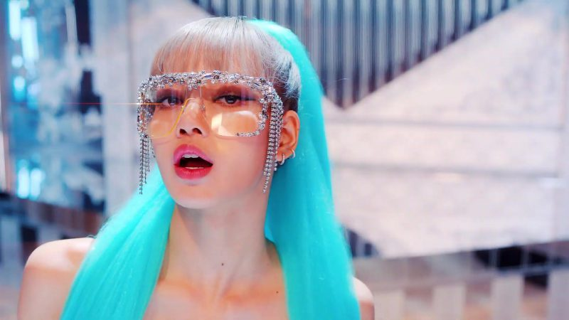 """Female  Celebrity Style:  Embellished Glasses Worn by Lisa in """"Kill This Love"""" Music Video by Blackpink"""