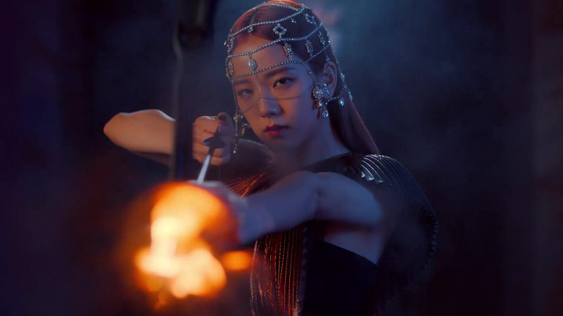 """Givenchy Metallic Lamé Dress Worn by Kim Jisoo Kim Ji-soo in """"Kill This Love"""" Music Video by Blackpink - Female Fashion Outfits and Products"""