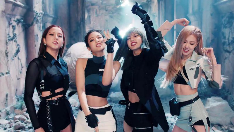 "Shirt Worn by Jisoo, Gloves Worn by Jennie, Crop Top Worn by Lisa and Jacket Worn by Rose in ""Kill This Love"" by Blackpink - Female Fashion Outfits and Products"