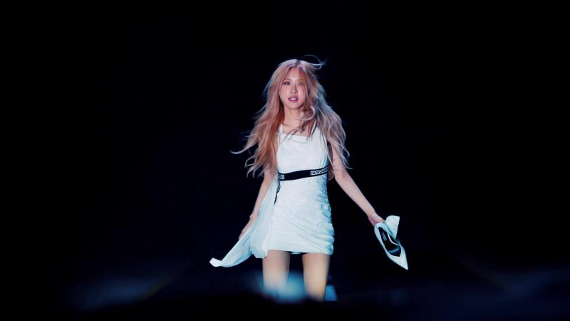 "Female  Celebrity Style:  White Mini Dress Worn by Rosé (Roseanne Park) in ""Kill This Love"" Music Video by Blackpink"