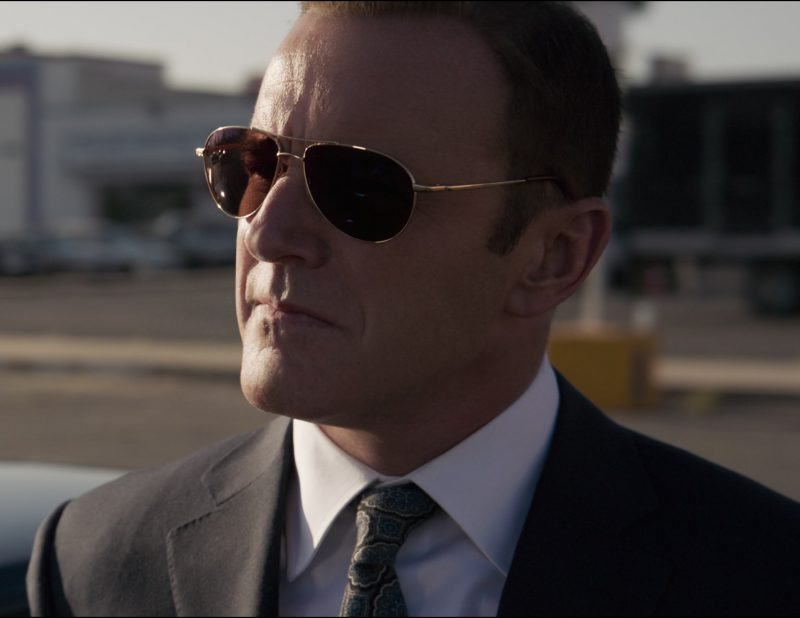 Aviator Sunglasses Worn by Clark Gregg in Captain Marvel - Movie Outfits and Products