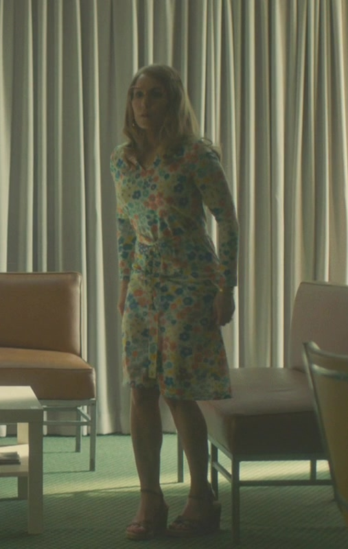 Floral Long Sleeve Dress Worn by Noomi Rapace in Stockholm - Movie Outfits and Products