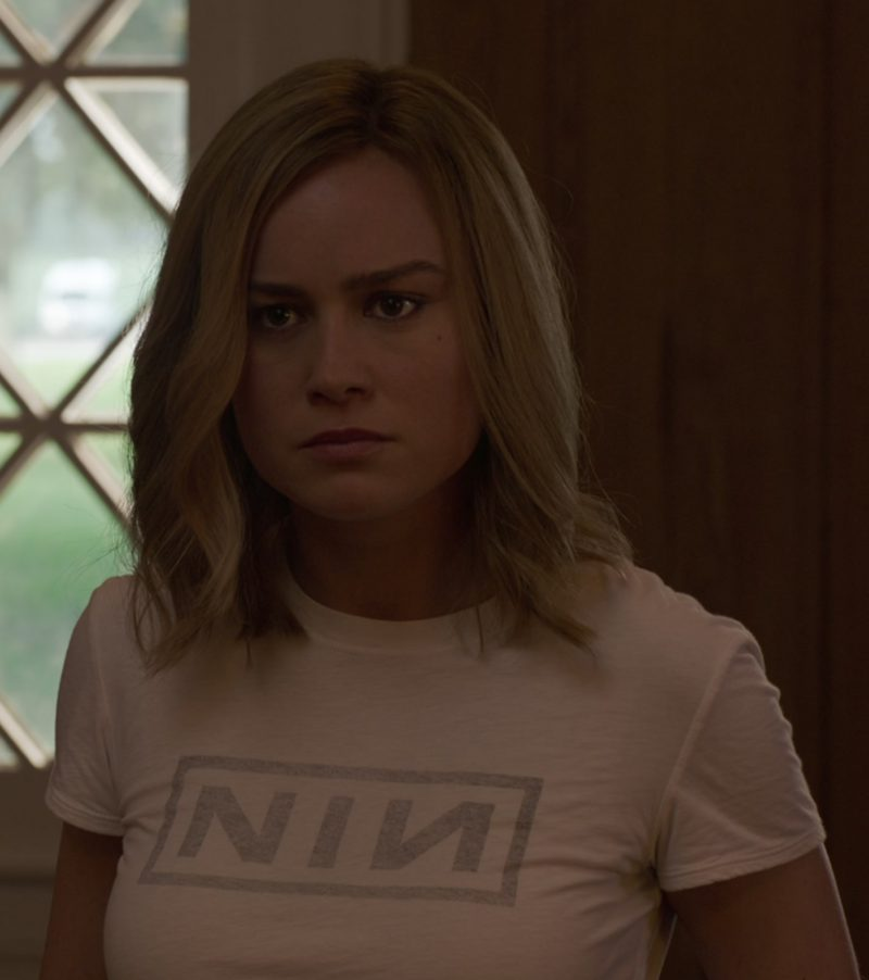NIN T-Shirt (Nine Inch Nails Rock Band) Worn by Brie Larson in Captain Marvel - Movie Outfits and Products