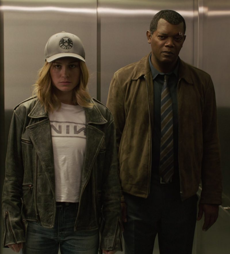 NIN T-Shirt (Nine Inch Nails Rock Band) Worn by Brie Larson in Captain Marvel Movie - Female Fashion Outfits and Products