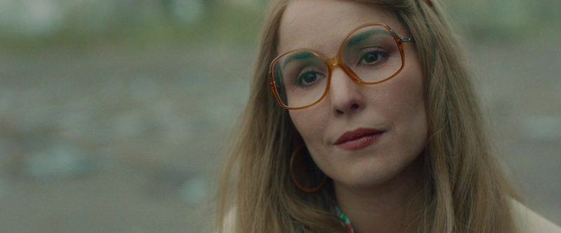 Oversized Orange Frame Glasses Worn by Noomi Rapace in Stockholm - Movie Outfits and Products
