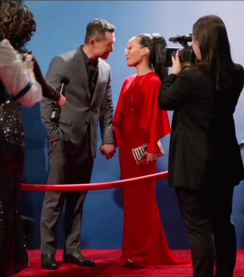 Evening Red Long Dress Worn by Ali Wong in Always Be My Maybe - Movie Outfits and Products