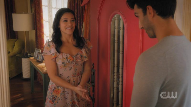 Summer Dress With Floral Prints Worn by Gina Rodriguez in Jane The Virgin TV Show - Female Fashion