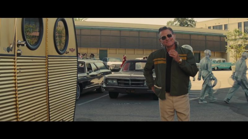 Green Bomber Jacket and Sunglasses Worn by Kurt Russell in Once Upon a Time in Hollywood Movie - Male Fashion Outfits and Products