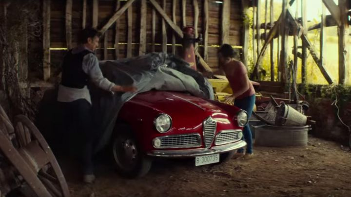 1961 Red Alfa Romeo Giulietta of Martin Terrier (Sean Penn) as seen in The Gunman - Movie Outfits and Products