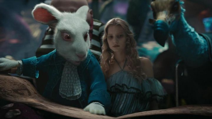 Alice's (Mia Wasikowska) adapted blue dress in Alice in Wonderland - Movie Outfits and Products