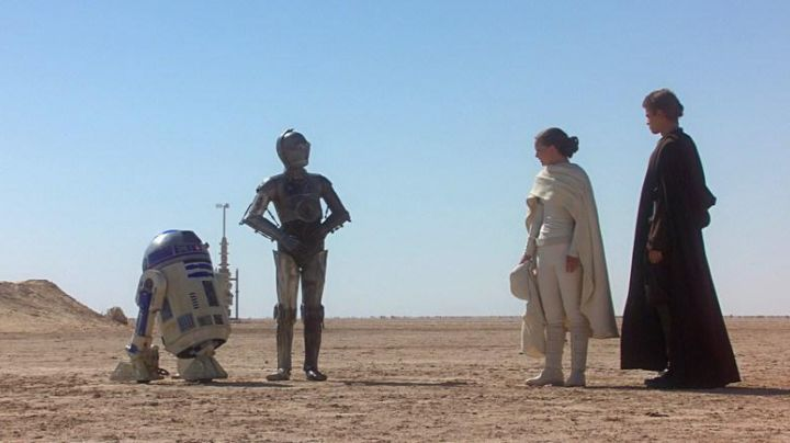 All white with cape of Padme Amidala (Natalie Portman) in Star Wars Episode II Movie
