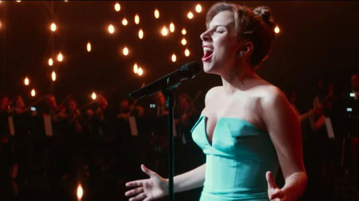 Ally's (Lady Gaga) turquoise dress as seen in A Star Is Born Movie