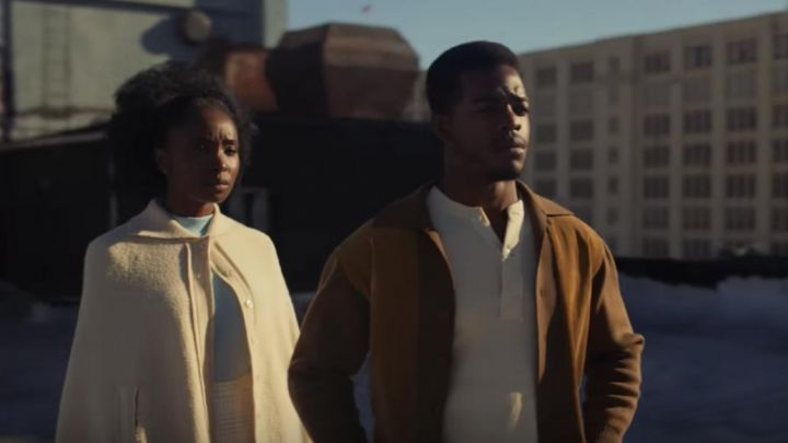 """Alonzo """"Fonny"""" Hunt (Stephan James) Suede Bomber Jacket in If Beale Street Could Talk Movie"""