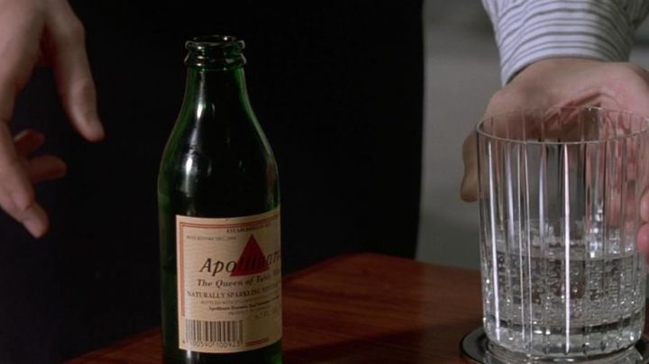 Apollinaris Sparkling Mineral Water of Patrick Bateman (Christian Bale) in American Pyscho - Movie Outfits and Products