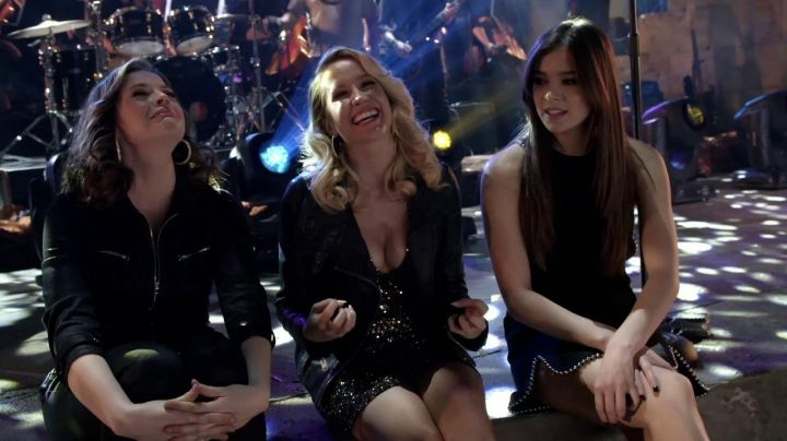 Aubrey's (Anna Camp) AllSaints Leather Biker Jacket as seen in Pitch Perfect 3 Movie