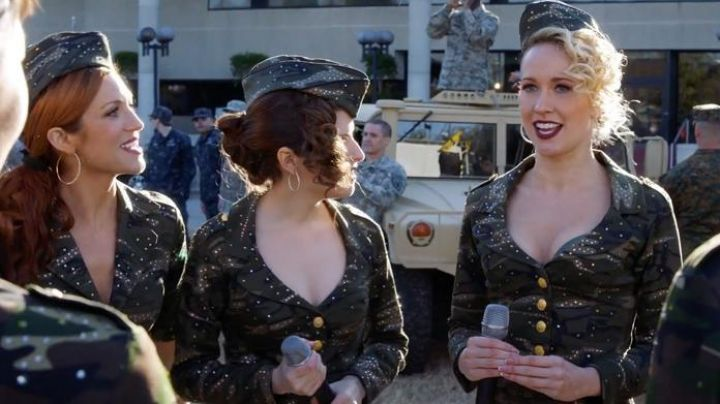 Aubrey's (Anna Camp) Lord & Taylor earrings as seen in Pitch Perfect 3 Movie