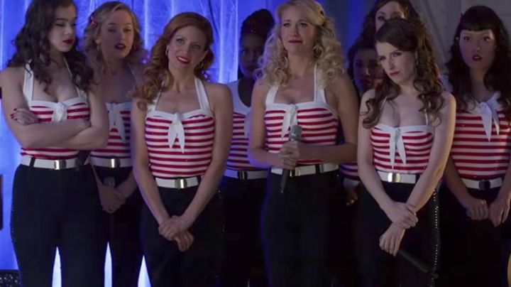 Aubrey's (Anna Camp) Missguided High Waisted Stretch Skinny as seen in Pitch Perfect 3 Movie