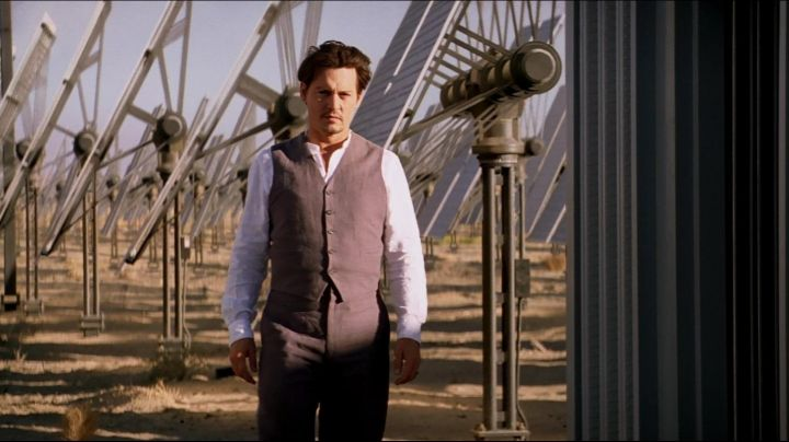 Authentic gray suit of Will Caster (Johnny Depp) in Transcendence movie