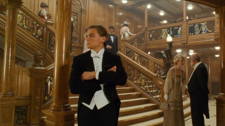 Fashion Trends 2021: Authentic molding of the Large wooden Staircase of the cruise ship the Titanic in Titanic