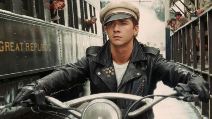 Biker Leather Jacket worn by Mutt Williams (Shia Labeouf) as seen in Indiana Jones and the Kingdom of the Crystal Skull - Movie Outfits and Products