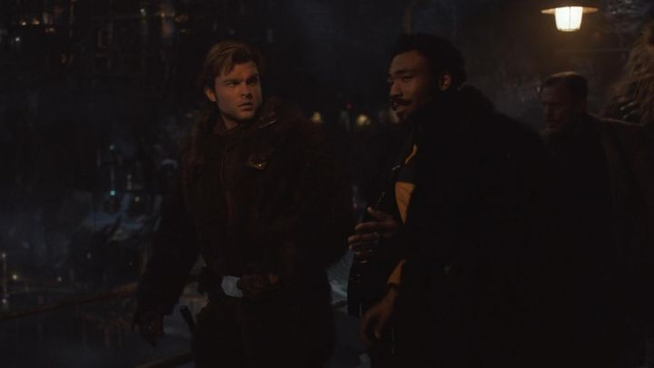 Black Fur worn by Lando Calrissian (Donald Glover) as seen in Solo: A Star Wars Story Movie