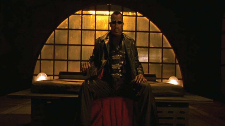 Black Leather Coat worn by Blade (Wesley Snipes) as seen in Blade 2 - Movie Outfits and Products