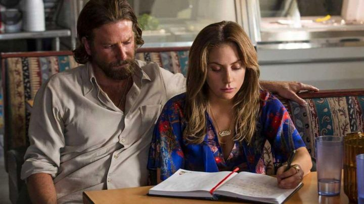 Blue Floral Blouse worn by Ally (Lady Gaga) as seen in A Star Is Born movie