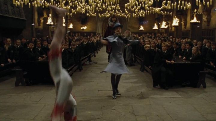Blue Oxford derby shoes worn by Fleur Delacour (Clémence Poésy) as seen in Harry Potter and the Goblet of Fire - Movie Outfits and Products