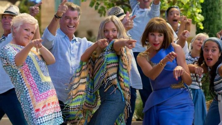 Blue Tunic Blouse worn by Rosie (Julie Walters) as seen in Mamma Mia! Here We Go Again - Movie Outfits and Products