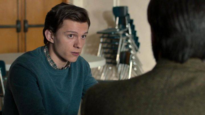 Blue sweater worn by Peter Parker / Spider-Man (Tom Holland) as seen in Spider-Man: Homecoming movie
