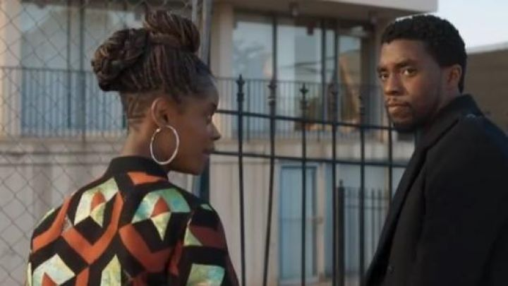 Bomber Jacket worn by Shuri (Letitia Wright) as seen in the ending of Black Panther movie