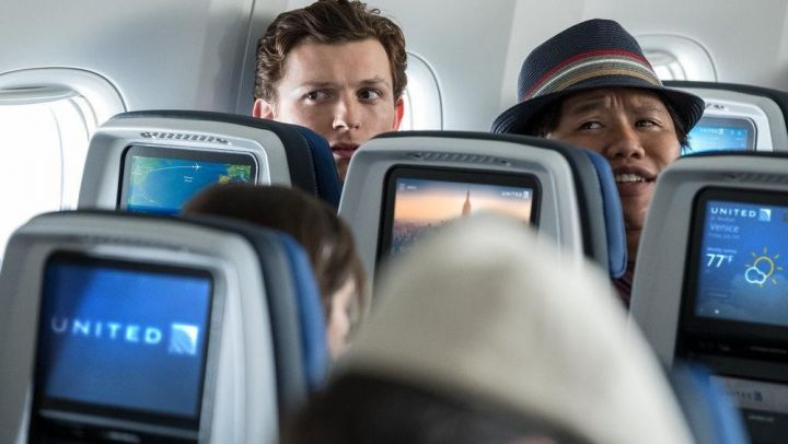 Booking.com for United Airlines Flight Tickets of Spider-Man / Peter Parker (Tom Holland) in Spider-Man: Far From Home Movie