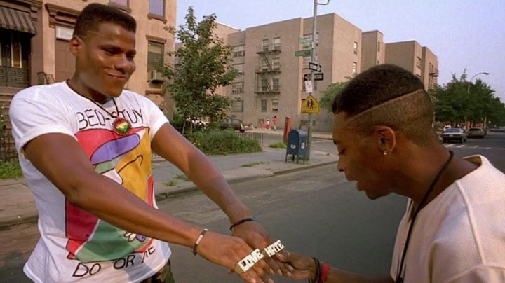 """Brass Knuckle Ring """"Hate"""" & """"Love"""" worn by Radio Raheen (Bill Nunn) as seen in Do the right thing - Movie Outfits and Products"""