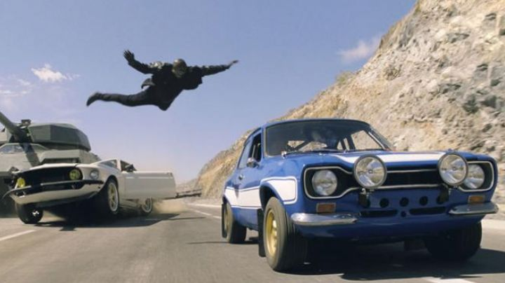 Brian O'conner (Paul Walker) at the wheel of the Ford Escort RS1600 (1970) in Fast and Furious 6 movie