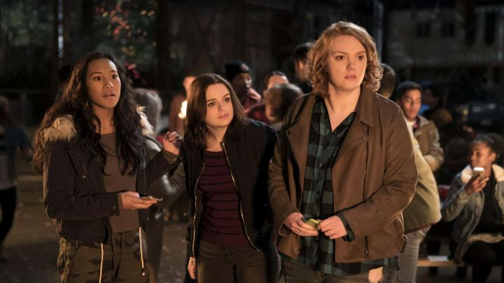 Fashion Trends 2021: Brown Jacket worn by June (Shannon Purser) as seen in Wish Upon