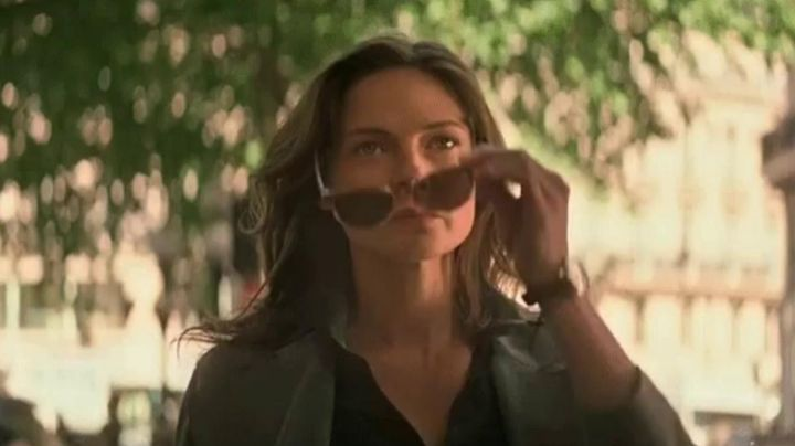 Brown sunglasses worn by Ilsa Faust (Rebecca Ferguson) as seen in Mission: Impossible - Fallout movie
