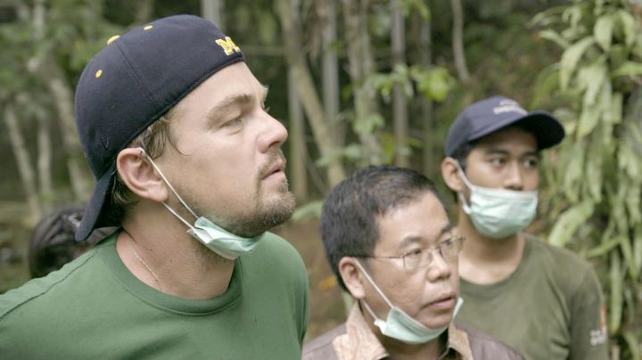 Fashion Trends 2021: Cap Michigan Wolverines Leonardo DiCaprio in Before The Flood / Before the Flood