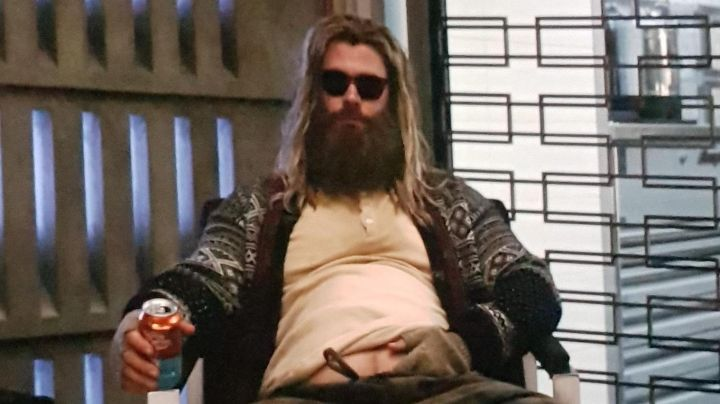 Cardigan sweater worn by Thor (Chris Hemsworth) as seen in Avengers: Endgame movie
