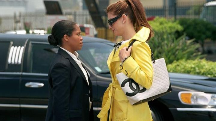Chanel bag worn by Gracie Hart (Sandra Bullock) as seen in Miss Congeniality 2: Armed and Fabulous Movie