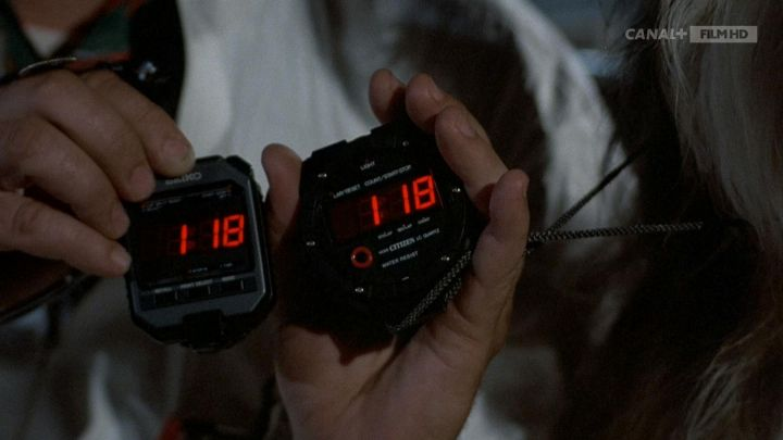 Citizen Stopwatch used by Dr. Emmett Brown (Christopher Lloyd) in Back to the Future Movie