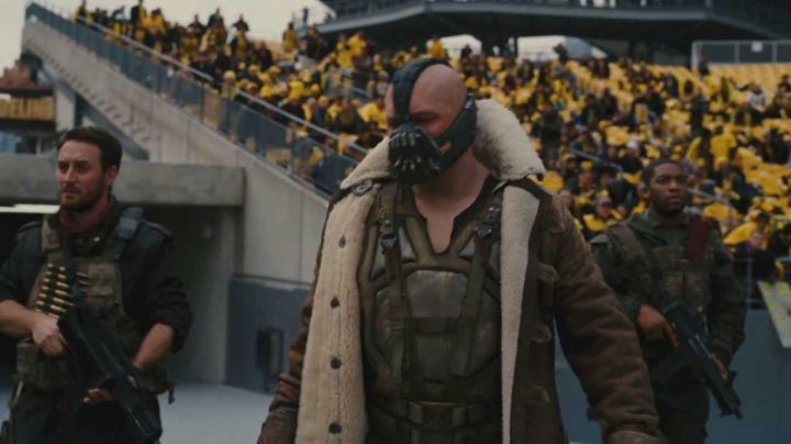 Coat with Fur Collar worn by Bane (Tom Hardy) as seen in The Dark Knight Rises
