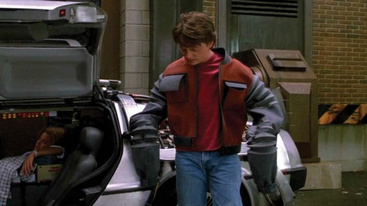 Fashion Trends 2021: Collectible Future Jacket worn by Marty McFly (Michael J. Fox) in Back to the Future Part II